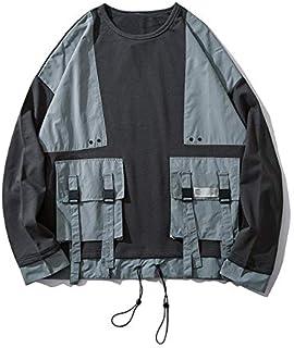 WSDMY Sweatshirt Shirt Pantalon en Tissu Manteau /à Manches Longues Tendance Japonaise Jeunes /étudiants l/âche Chemise /à Carreaux contrast/és mar/ée Masculine