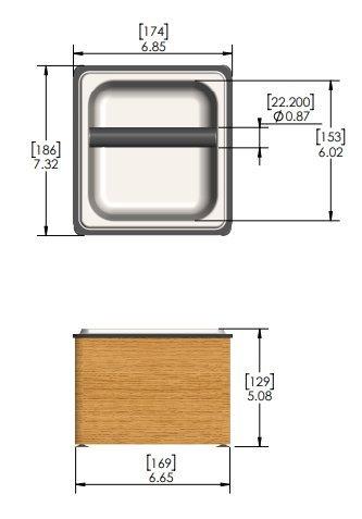 Krome Wooden Barista Style Coffee Knock Box - C881
