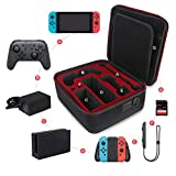 Tangxi Carrying Case for Nintendo Switch, Multifunction Protective Hard Portable Travel Carry Case Shell Pouch for Nintendo Switch Console & Accessories
