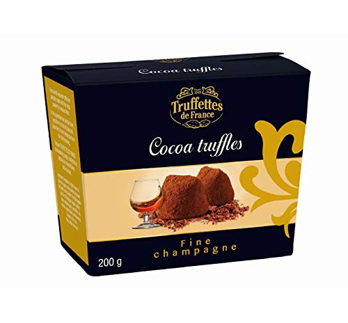 Natural Chocolate Truffles Fine Champagne Flavor from Truffettes de France - Gift Box 7 oz, 200 ()