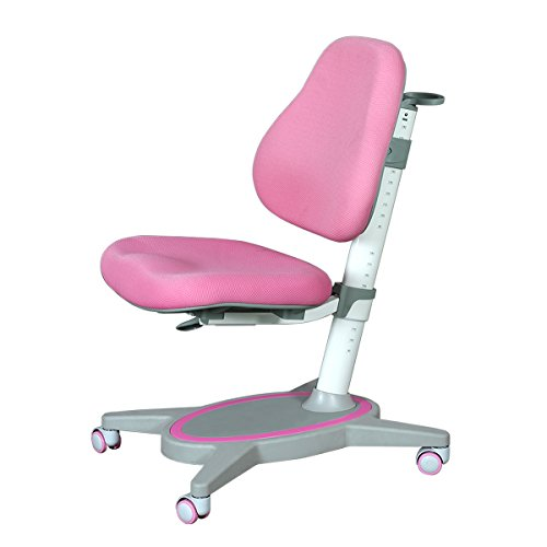 WLIVE Ergonomic Height Adjustable Children's Study Computer Chair(Pink) by WLIVE