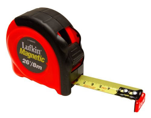 Lufkin 1 Inch X 8 Meters (26') Power Tape with Magnetic End Hook - Metric Version by Apex Tool Group (Image #1)