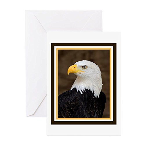 (CafePress - American Bald Eagle - Greeting Card (20-pack), Note Card with Blank Inside, Birthday Card Glossy)