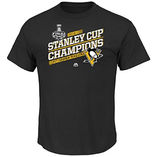 Pittsburgh Penguins NHL Women's Plus Size 2016 Stanley Cup Champions Breaking the Glass V-neck T-shirt (Plus 2X)