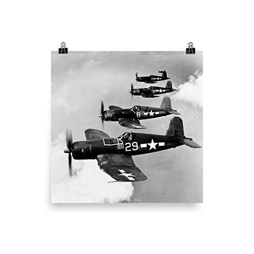 Navy Vought F4U-1A Corsairs Jolly Rogers 1944 Print Poster