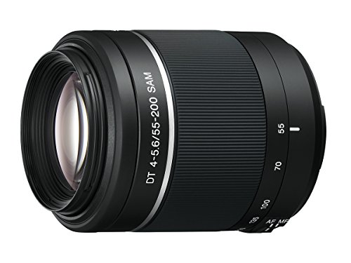 Sony 55-200mm f/4-5.6 SAM DT Telephoto Zoom Lens for Sony Alpha Digital SLR Cameras