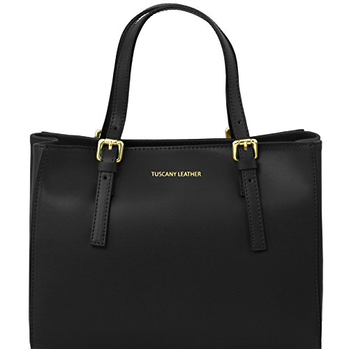 81414344 - TUSCANY LEATHER: AURA - Sac à main en cuir Ruga, Noir