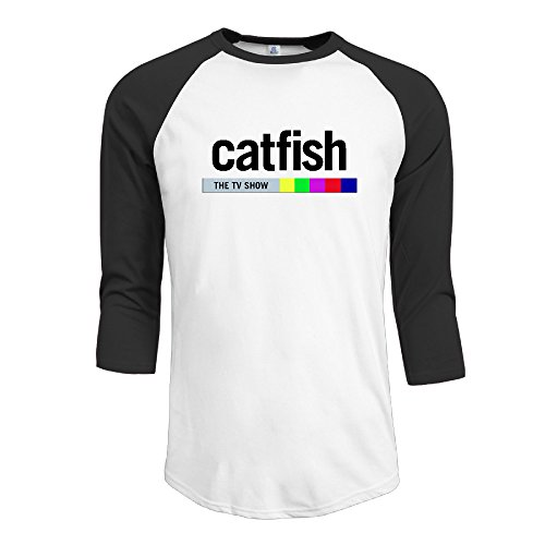 mens-catfish-the-tv-show-crazy-3-4-sleeve-raglan-t-shirts-baseball-tops