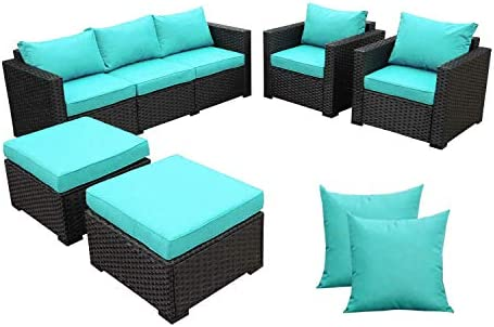 Outdoor Wicker Furniture Couch Set 5 Pieces