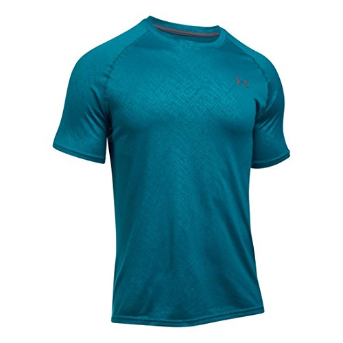 Men's Under Armour Tech Emboss Short Sleeve Tee, Bayou Blue, ()
