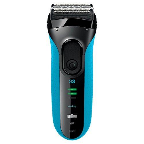 Braun Series 3 3040s elektrischer Rasierer (Rasierapparat, Elektrorasierer einsetzbar als Trockenrasierer und Nassrasierer (Wet und Dry)) blau
