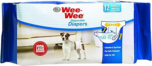 Four Paws Wee Wee Disposable Diapers, Small 72ct (6 x 12ct)