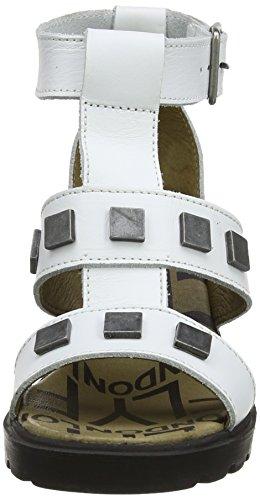 Fly London Clin - Sandalias de vestir de cuero para mujer - Off White (Off White)