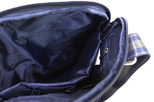 Borsello uomo Roncato tracolla piatta espandibile bandoliera 46.58.20 blu