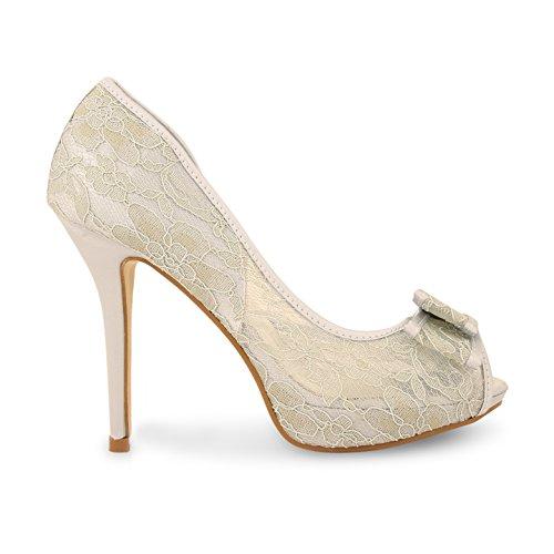 Footwear Sensation - punta abierta mujer Plata - plata