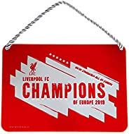 Liverpool FC Champions Of Europe 2019 Metal Sign (One Size) (Red)