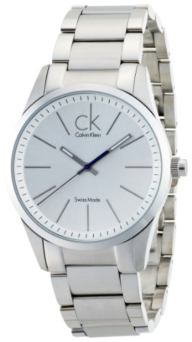 Calvin Klein Men's 'Bold' Swiss Quartz Stainless Steel Casual Watch, Color:Silver-Toned (Model: K2241120)