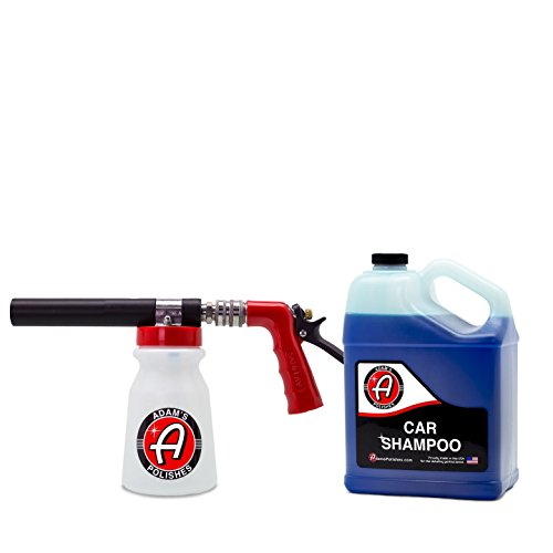 Adam's Suds-For-Days Premium Foam Gun Bundle - Produces Thick Clinging Foam For Car Washing - Includes One Gallon of Our Ultra Slick, pH Neutral Car Shampoo For Safe, Swirl Free (Suds Foam)