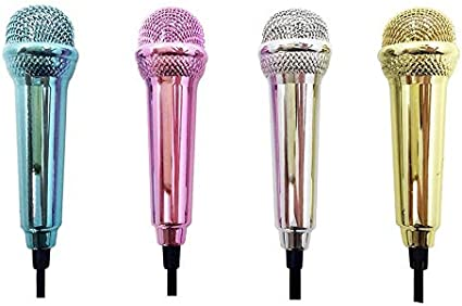 Eduton Portable Aluminum Alloy Mini 3.5mm Wired Microphone for Mobile Phone Tablet PC Laptop Speech Sing Karaoke for iPhone Silver