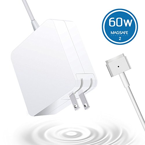 MacBook Pro Charger MacBook Air Charger Replacement 60W Magsafe 2 Magnetic T-Tip Power Adapter Charger for MacBook Retina-After Late 2012 (White) - Best Wings In Dc