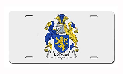 McDaniel Coat of Arms/McDaniel Family Crest Aluminum License Plate, Front License Plate, Vanity Tag, Vintage Metal Sign, Auto Tag 6