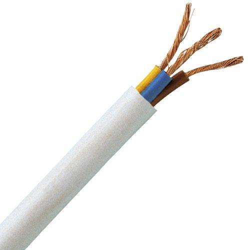 Kopp 151710849 Schlauchleitung H05 VV-F 3G, 1 mm², 10 m, weiß