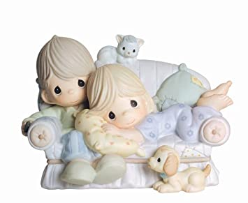 Precious Moments, Together Is The Nicest Place To Be, Bisque Porcelain Figurine, 4003175