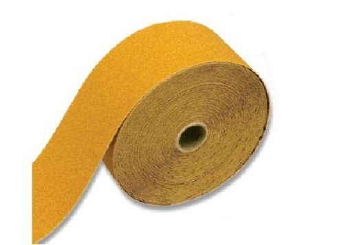 Karebac RHS220 220 Grit 2-3/4-Inch Gold PSA Rolls Stearated Aluminum Oxide, 2-3/4-Inch x 25 Meters