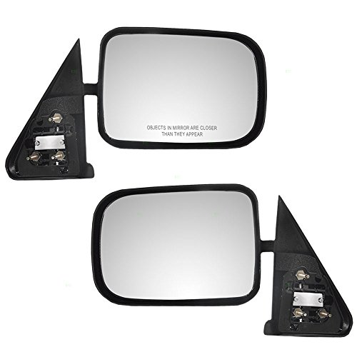 Driver and Passenger Manual Side View Mirrors 6x9 Standard Mount Textured Replacement for Dodge Pickup Truck 55022241 55022240 AutoAndArt