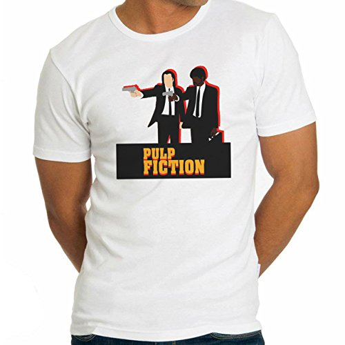 Pulp Fiction Movie Characters With Gun Herren T-Shirt