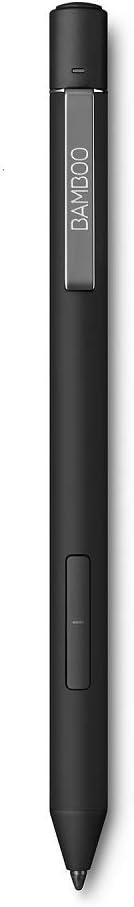 Wacom Bamboo Ink Plus - Lápiz Digital Activo, esbozar y anotar con precisión en Dispositivos Aptos para lápices con Windows 10, Compatible con Windows Ink, Color Negro