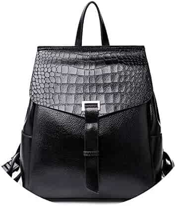 0683a592f7 Leather Backpacks Crocodile Pattern Female Solid School Backpack For Teenage  Girls