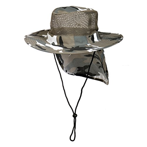 (Cap911 Unisex Summer Boonie Mesh Bucket Flap Hats , (Large, City Camo))