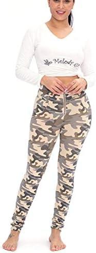 Leggings pour Femmes Camouflage De Couleur Claire Pantalon De Yoga Taille Haute Collant De Contrôle du Ventre Pilates pour Entraînement Sportif Running Gym,XXL