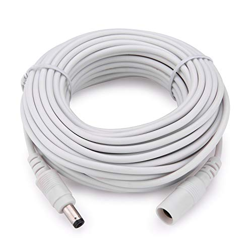 Stand Alone Network Dvr - Tonton Power Extension Cable 10M 30Ft 2.1mm x 5.5mm Compatible with 12V DC Adapter Cord for CCTV Security Camera System NVR DVR and Standalone IP Camera(White)