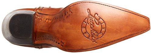 Vitello Lucchese Da Donna Cheyenne Western Fashion Boot Shoe Tan