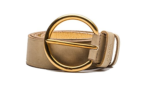 Prada Brown Belt (Prada Vinatage Women's Circular Logo Calf Leather Belt)