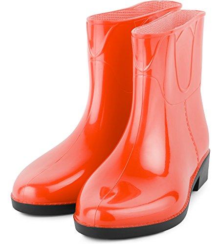 LAZT201801 Naranja Ladeheid Mujer Botas Botines Agua de Zapatos nFrrOY0qw