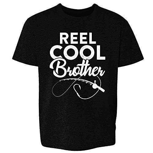 (Reel Cool Brother Fishing Rod Fisherman Funny Black 3T Toddler Kids T-Shirt)