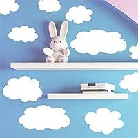 Create-A-Mural - Pegatinas de pared en forma de nube esponjosa - Decoración de pared para bebés