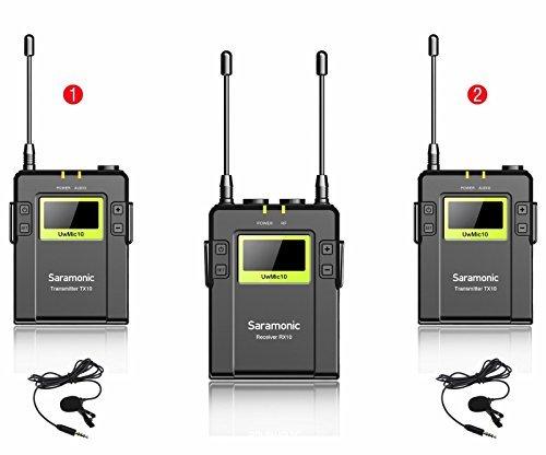 2 opinioni per Saramonic sr-mic10rx-txtx Sistema UHF RX10+ 2TX10Nero