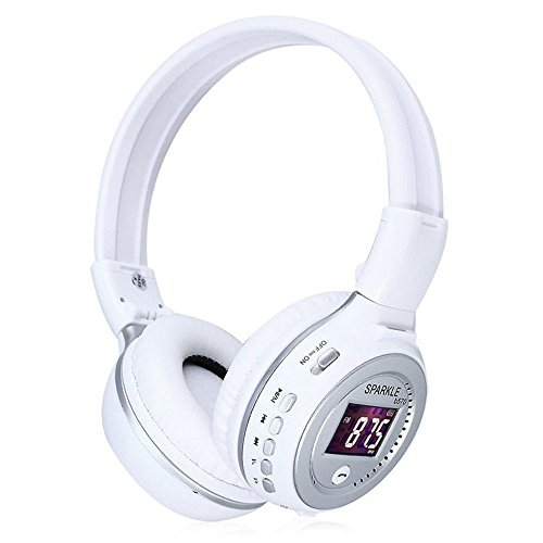 Foldable Wireless Bluetooth V4.0 Headset LED Display Screen Headphones Stereo Headphone with FM Radio TF Card Slot Indicator Light for Smartphones Tablet PC MP3 Players