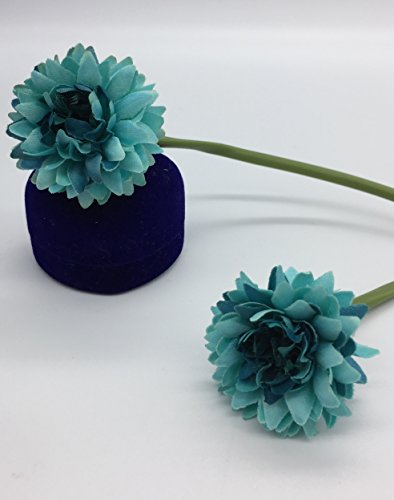 Live with Love Flor de seda artificial Margaritas perfecto para decoración de mesa de hotel y restaurante - azul: Amazon.es: Hogar