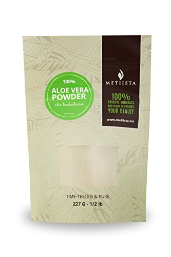 100% pure Aloe Vera Powder (Aloe Barbadensis)-1/2 LB- ORGANICALLY GROWN -NEW! Resealable packaging
