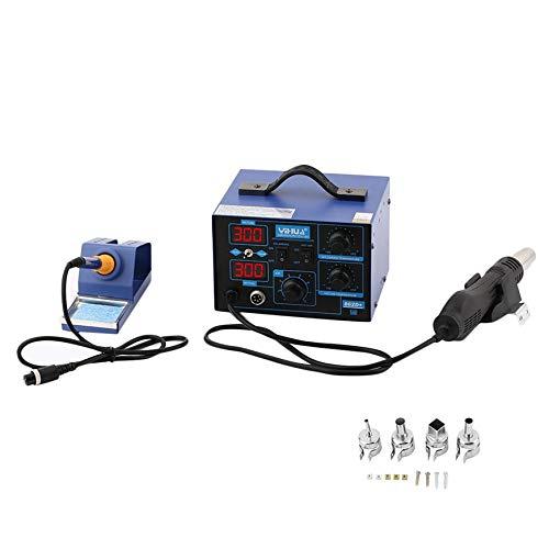 Pudincoco 862D 2 en 1 Máquina de soldadura inteligente Pantalla de pantalla digital portátil Máquina de soldadura industrial Instrumento de soldadura de ...