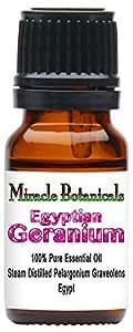 Miracle Botanicals Premium Egyptian Geranium Essential Oil - 100% Pure Pelargonium Graveolens - 10ml and 30ml Sizes - Therapeutic Grade 10ml