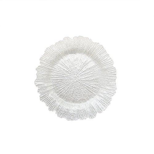 ChargeIt by Jay Reef Glass Charger Plate, White by ChargeIt by Jay