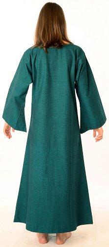 Baumwolle XL Damenkleid Damen blau rot braun Mittelalter schwarz beige Grün reine grün Kleid HEMAD S Leinenstruktur Ip76Sw