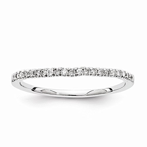 14k White Gold Semi-Mounting Diamond Wedding Band, No Center Stone Included ()