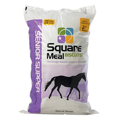 Senior Supper - Square Meal Biscuits - Horse Feed - w/ Alfa-Alfa - 35 Lb